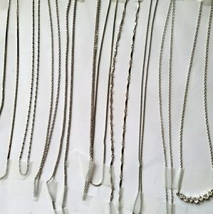 Silver plated necklaces
